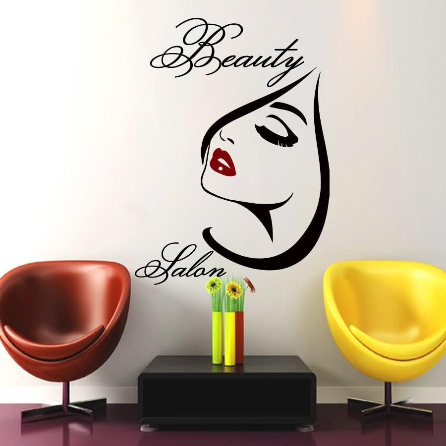 Beauty Salon Wall Art Girl Decal Vinyl Decals Wall Sticker