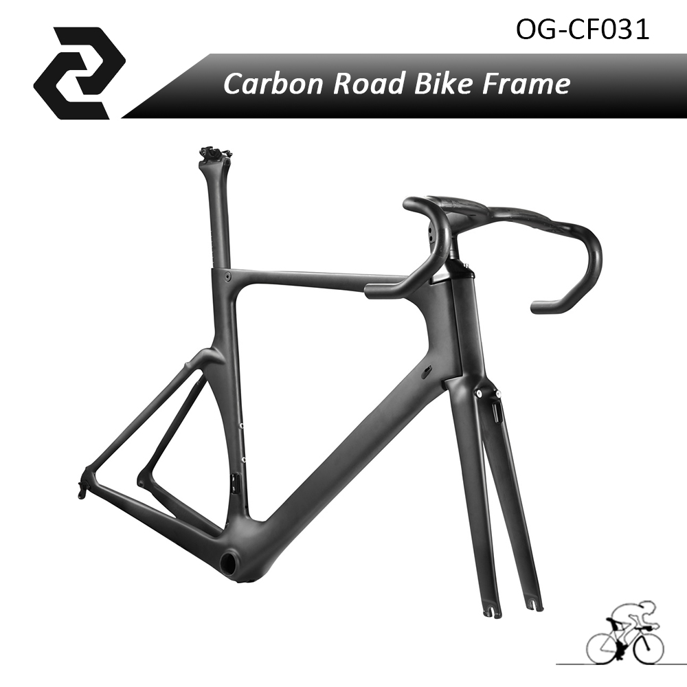 Og-evkin Carbon Road Bike Aero Frame With Integrated Handlebar Bicycle Cycling Sports Parts Bb86 Di2 Max 25mm Tire Glossy/matt white orange red sports cycling carbone integrated carbon stem handlebar bicycle road bike bar ud 2017 support computer mount