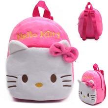 Cartoon Soft pink plush backpacks baby Toys stuffed backpack children backpacks plush dolls hello kitty Plush school bags