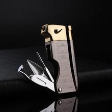 Многофункциональная газовая надувная зажигалка, зажигалка для сигарет, зажигалка для сигар, подаропосылка для курения