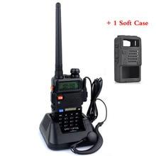 Baofeng UV-5R Portable uv5r Walkie Talkie Two Way Radios128CH Dual Band VHF/UHF 136-174/400-520MHz Transceiver +Soft Case