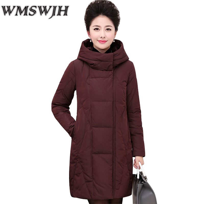 Plus size 6XL Middle-aged Coat Female Winter Jacket Women 2017 New Cotton-padded jacket Women Medium long Hooded Warm Parkas winter women medium long middle aged fur collar hooded parkas thick warm plus size coat cotton padded chaquetas mujer tt3058
