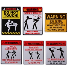 New WARNING DONT TELL ME HOW TO DO MY JOB Car Sticker Car Styling Accessories