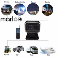 Marloo 360 Вращающийся 50 Вт светодиодный поисковый светильник с дистанционным управлением точечный рабочий светильник для внедорожных транспо...