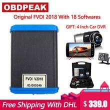 Latest FVDI 2018  Full Version ABRITES Commander Diagnostic Tool 18 Softwares No Time Limited V2014/2015 DHL Free +Car DVR