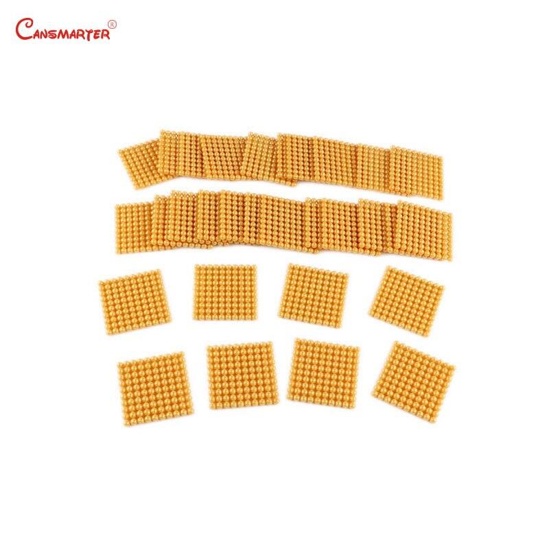 Jouets éducatifs hêtre bois perles d'or matériaux jeu Montessori calcul nombre comptage jouet préscolaire 3-6 ans MA164-3 - 5
