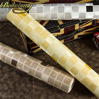 PVC Mosaic Wallpaper Roll Bathroom Wall Paper Waterproof Tile Wallpapers For Kitchen Home Decoration Papier Peint