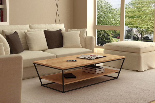 New designer furniture ideas trapezoidal wooden coffee table living ...