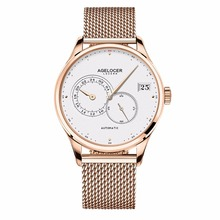 Agelocer Luxury Fashion Watches Rose Gold Bracelet Mechanical Watches Waterproof Watches for Men 5102D9