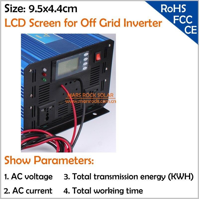 6000 Вт 48VDC 100/110/120VAC или 220/230/240VAC чистая Синусоидальная волна PV инвертор решетки солнечной и ветровой энергии инвертор PV инвертор