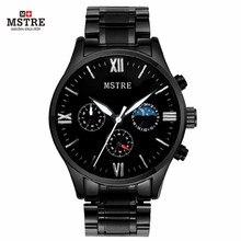Men's Quartz Watch Luxury Brand Wrist Fashion Casual Wolfram Steel Tungsten Complete Calendar Men Quartz Business males's watch