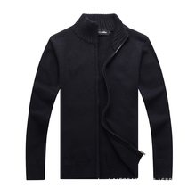 New 2017 Mens Winter Sweaters 100% Cotton Knitted Cardigan Knitting Brand Clothing Man's Thick Knitwear Clothes Sweatercoats 3XL