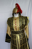 new men chinese ancient general Tang clothing armor Hanfu soldiers stage performance suits ethnic cosplay costume