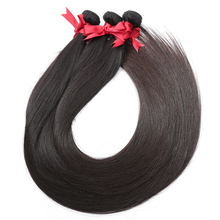 28 30 32 40 Inch Long Remy Indian Human Hair Weave Straight 3 4 Bundles Deal Super Double Drawn Natural Extension Vendors
