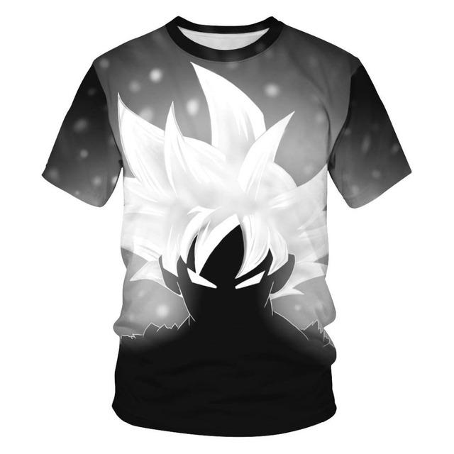 Dragon Ball Z Ultra Instinct God Son Goku Super Saiyan Men Tshirt 3D Printed Summer O-Neck Daily Casual Funny T shirt Plus Size