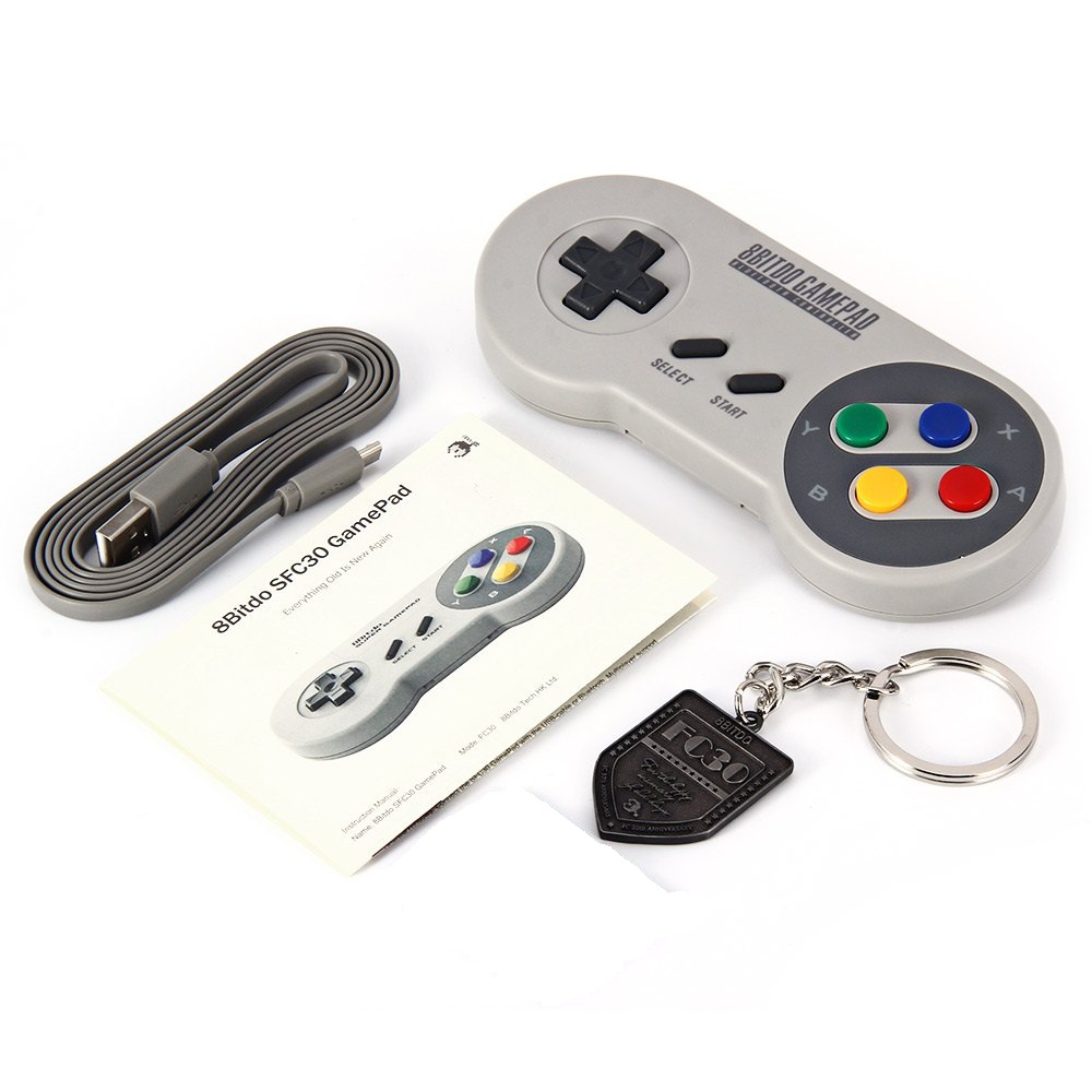 aliexpress com buy original 8bitdo sfc30 wireless bluetooth aliexpress com buy original 8bitdo sfc30 wireless bluetooth gamepad pro game controller retro design for ios android pc mac linux from reliable pc