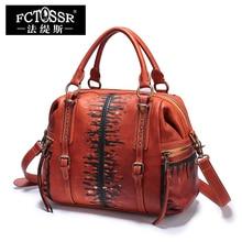 2017 New Leather Shoulder Women Bags Handbag Vintage Handmade Genuine Leather Top-Handle Messenger Crossbody Bags