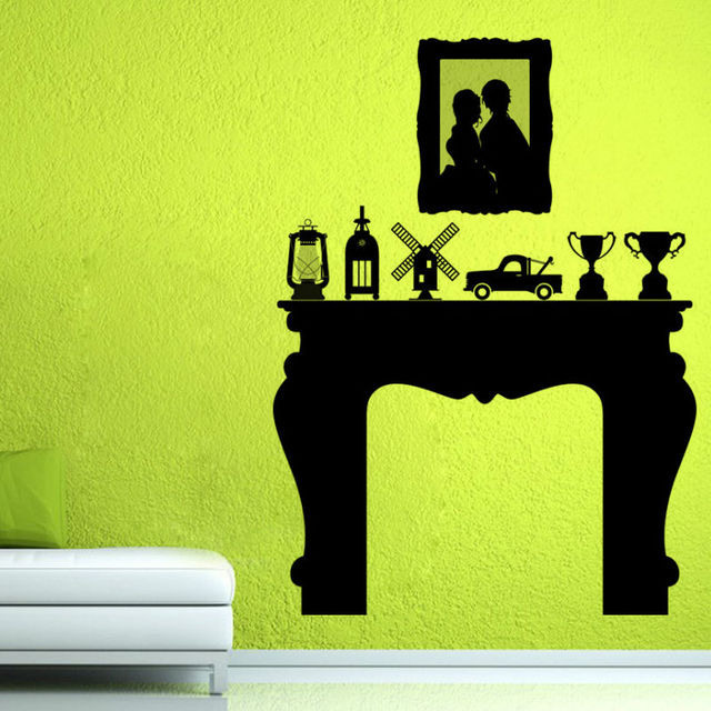 Most Popular Vinyl Art Home Decor Trophies Fireplace Wall Sticker  Waterproof Decals Self Adhesive Wallpaper