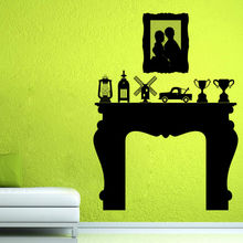Most Popular Vinyl Art Home Decor Trophies Fireplace Wall Sticker  Waterproof Decals Self Adhesive Wallpaper( Part 60