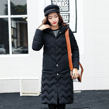 2017 Winter  Women's Fashion Warm Jacket Parka Female Coat Hooded Women Winter Coat