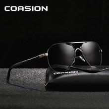 COASION Brand Design Classic Pilot Polarized Sunglasses Men Coating Mirror Retro Driving Sun Glasses Male zonnebril UV400 CA1177