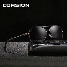 COASION Brand Design Classic Pilot Polarized Sunglasses Men Coating Mirror Retro Driving Sun Glasses Male zonnebril UV400 CA1177 все цены