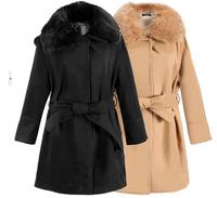 2017 Winter Coat Women S Wool Vintage Winter Coats Fur Collars Outerwear Long Overcoat Women Blends