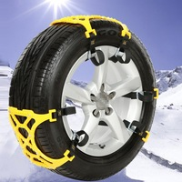 6pcs Set Car Winter Snow Tire Double Buckle Anti Skid Chains Thickened Beef Tendon Vehicles Wheel