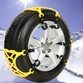 6pcs/Set Car Winter Snow Tire double - buckle Anti-skid Chains Thickened Beef Tendon Vehicles TPU Wheel Antiskid Chain
