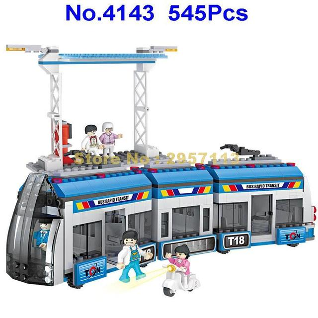 4143 545pcs City BRT Bus Rapid Transit Building Block Brick Toy