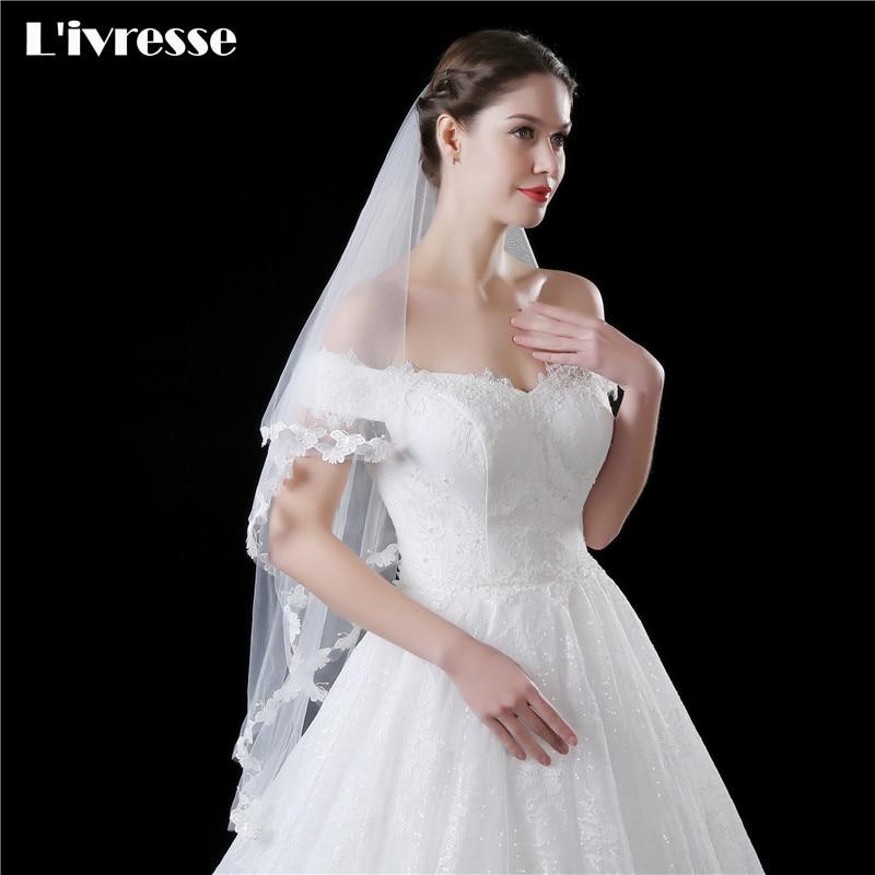 Styles Of Wedding Veils: New Style Simple Wedding Veil Lace Edge Wedding Veils