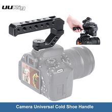 Uurig r005 dslr câmera alça superior de metal frio sapato adaptador montagem universal aperto de mão para sony nikon canon com 1/4 3/8 parafuso