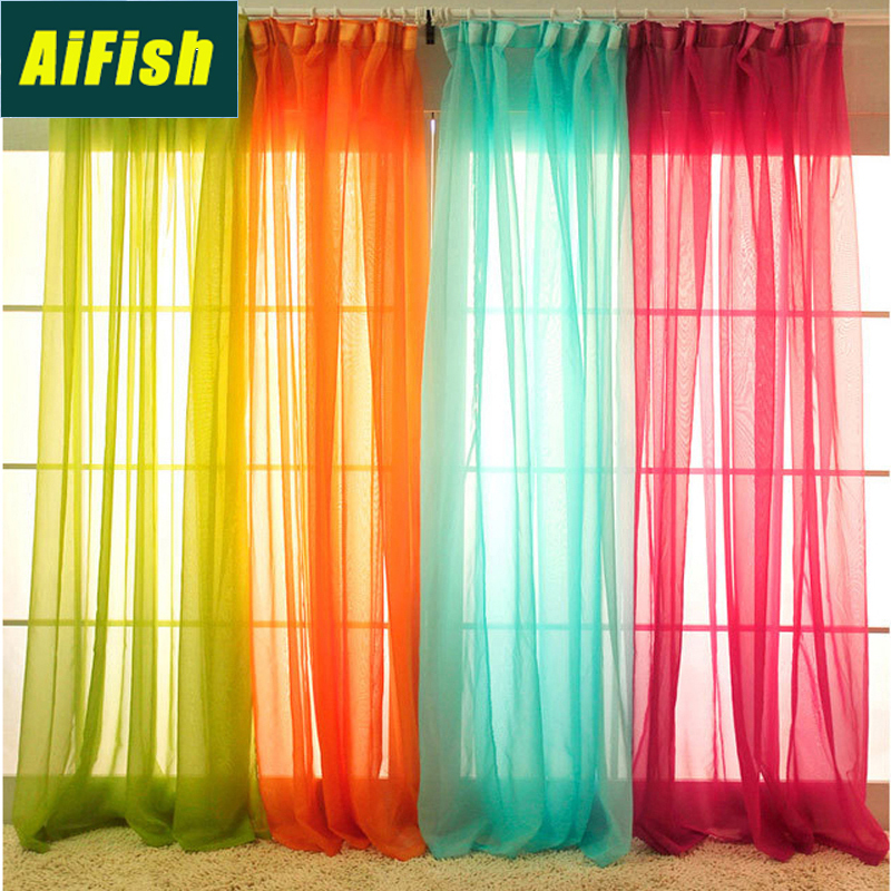 Colorful Outdoor Rooms: Outdoor Solid Color Sheer Voile Curtains For French Door