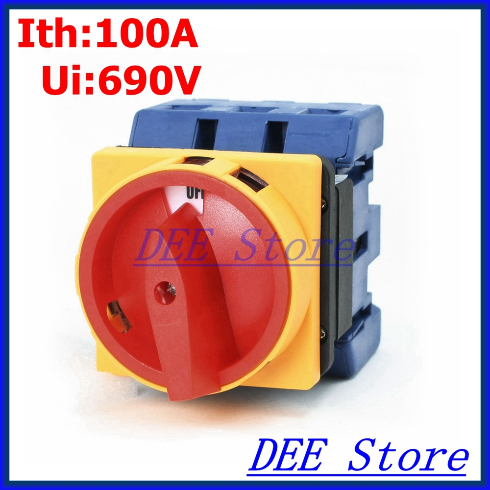 ФОТО Load circuit breaker rotary switch AC Ui 690V Ith 100A ON/OFF 2 Position Universal Rotary Cam Changeover Switch