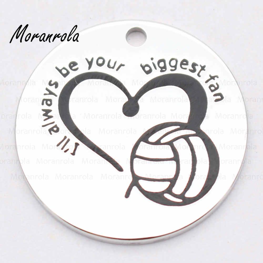 """Nuevo llavero de collar """"Siempre serás tu mayor fan"""", amuleto estampado a mano joyería voleibol ventilador collar deportes animador"""