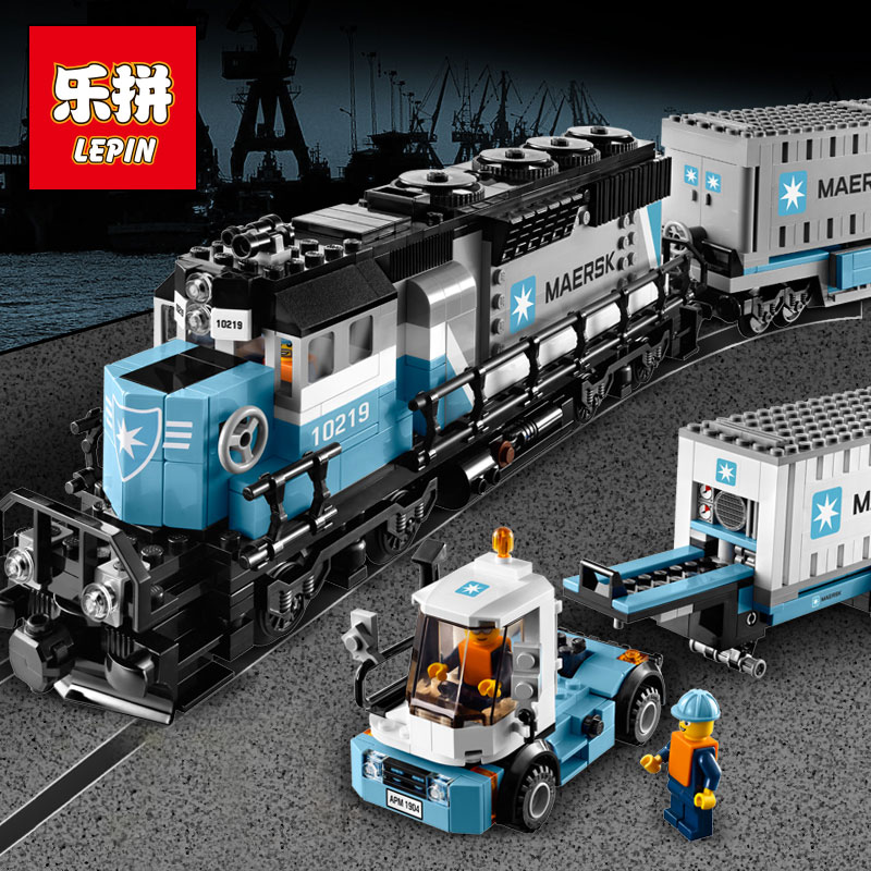 1234pcs Creative Technology Series Maersk Train Legoings Building Blocks Kit Toy DIY Educational Children Christmas Gifts