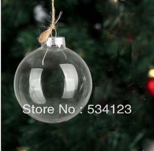 wholesale 12dia 8cm clear glass christmas balls xmas pendant christmas tree decorations christmas ornaments xmas ball in ball ornaments from home - Glass Christmas Tree Decorations
