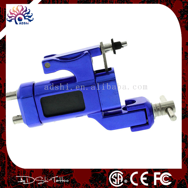 high quality brand 2016 blue  pro rotary tattoo machine gun for liner shader with RCA cord