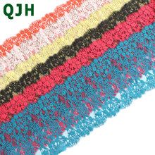 QJH 3 mt los Starke Warp Wimpern Spitze Trim DIY Kleidung Nähen Handwerk  Weiche Spitze Trimmen Französisch spitze Stoffe Zubehör. 725f8e1c93