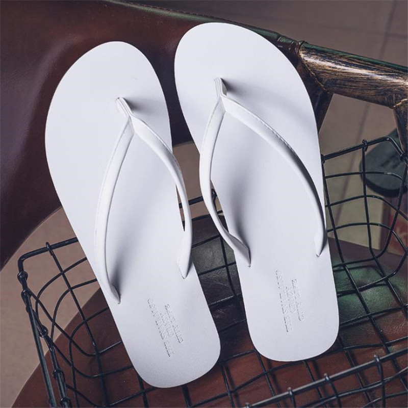 Top.Damet Women Slippers Fashion Summer Flat with Non Slip Beach Shoes Plus Size Casual Sandals Solid Color Flip Flops Female