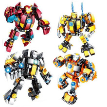 4pcs/lot Marvel Avengers Infinity War Building Blocks Super Heroes Iron Man Buster Ultron Edition Bricks Toys
