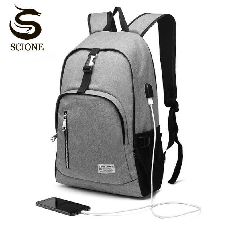 Высокое качество ноутбук usb зарядка Рюкзак Пакет школьной сумки деловой рюкзак мужской унисекс Водонепроницаемый рюкзак для путешествий