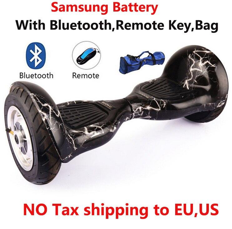 2019 auto équilibrage scooter 10 pouces hoverboard 700 W Samsung batterie + Bluetooth + sac + planche à roulettes à distance Smart Balance Board 10 pouces