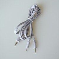 10 Stks/partij Lood Draden Aansluiten Kabels 2 In 1 Hoofd DC 3.5mm Adapter Lline Voor Elektrode Pad Digitale TIENTALLEN EMS Therapie Massager