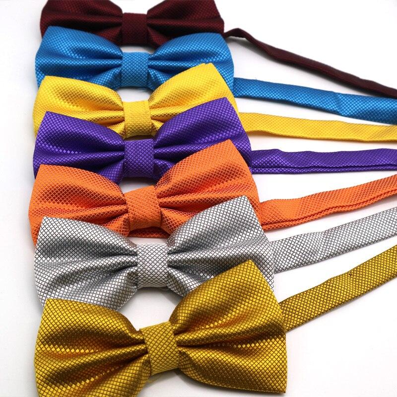 36 Color Adjustable Men's Bowtie Polyester Cartoon Man Solid Color Bows Tie Wedding Celebration Party Butterfly Birthday Necktie
