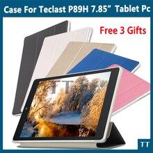 """Para CUBE iPlay8 U78 iPlay 8 caso de la Alta Calidad de LA PU Caso Del Soporte de cuero Para Teclast P89H 7.85 """"Tablet PC + Protector de Pantalla gratuito regalos"""