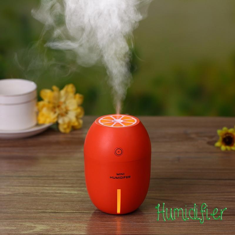 Diffuser Mist Maker Ultrasonic Humidifier Essential Oil Diffuser Aroma With Lemon Creative USB Light