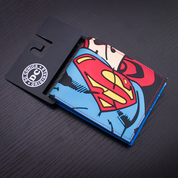 Superman Purse Men Wallets Comics Marvel Batman Animation Ironman Captain-America Hero
