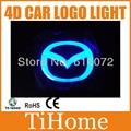 Free transporte para russo 4d levou logotipo do carro luz/lamp, 4d led carro lâmpada crachá para mazda3/mazda2