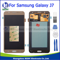 100% testado para samsung j7 j700f j700m j700h j700 lcd screen display + touch screen digitador assembléia substituição ouro + ferramentas
